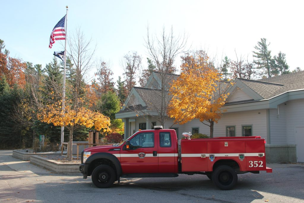 truck 352 parked out front of station 1